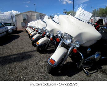 Las Vegas - Nevada / USA May 11 2019: TNT Government Surplus Auction of vehicle & equipment items including Police Cars, Motorcycles, Bicycles, Fire Trucks, and other items from Clark County agencies.