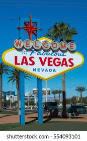LAS VEGAS NEVADA, USA - NOVEMBER 18, 2016: Welcome to Fabulous Las Vegas sign designed by Betty Willis (5200 S Las Vegas Blvd, Las Vegas, NV 89119, USA)