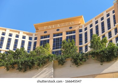 LAS VEGAS, NEVADA, USA - OCTOBER 20 : The Palazzo luxury hotel and casino resort on October 20, 2013 in Las Vegas,   Palazzo opened on December 30, 2007. One of the most luxurious hotels in Las Vegas