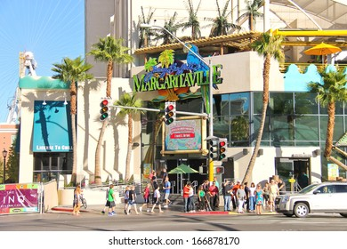 LAS VEGAS, NEVADA, USA - OCTOBER 20 : Margaritaville restaurant-gift shop on October 20, 2013 in Las Vegas, Jimmy Buffett's Margaritaville restaurant opened in Dec 2003 as part of Flamingo