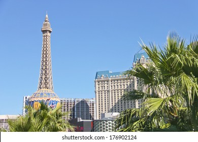 LAS VEGAS, NEVADA, USA - OCTOBER 21, 2013 : Paris Hotel in Las Vegas . Opened in 1999 and demonstrates the sights of Paris