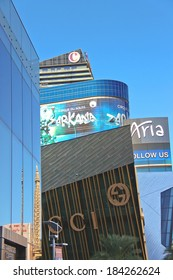 LAS VEGAS, NEVADA, USA - OCTOBER 21, 2013 : Ultramodern buildings hotels in City Center Las Vegas