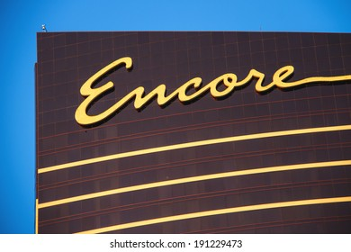 LAS VEGAS, NEVADA, USA - OCTOBER 25, 2013 : Encore hotel and casino  in Las Vegas, Nevada. 2034 room hotel resort opened in December 2008 with a casino, retail space, and restaurants.