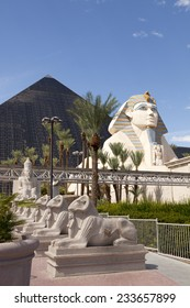 Las Vegas, Nevada, USA - Sept. 20, 2014: Egyptian pyramid shaped Luxor Hotel and Casino located on the southern end of Las Vegas Blvd in Las Vegas, Nevada, USA on Sept. 20, 2014