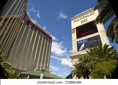 Las Vegas, Nevada, USA - Sept. 22, 2014: Mandalay Bay Casino and Hotel luxury resorts in Las Vegas. Mandalay Bay Resort and Casino is located on the Strip in Las Vegas, Nevada, USA on Sept. 22, 2014