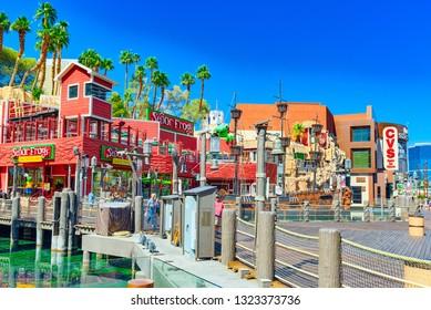 Las Vegas, Nevada, USA - September 16, 2018: Main street of Las Vegas is the Strip. Casino, hotel and resort Treasure Island.