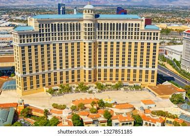 Las Vegas, Nevada, USA - September 17, 2018: Main street of Las Vegas is the Strip. Casino Bellagio.