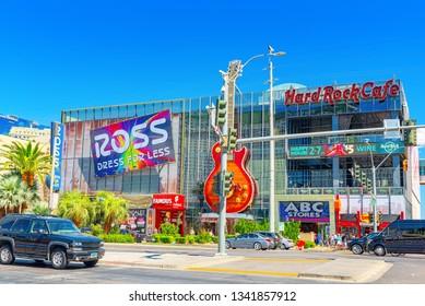 Las Vegas, Nevada, USA - September 16, 2018: Main street of Las Vegas is the Strip.