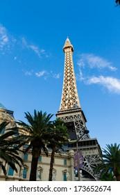 Las Vegas, Nevada-July 6, 2013: Paris Paris hotel in Las Vegas, Nevada.