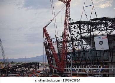 Las Vegas, Nevada/United States - 05/15/2019 Las Vegas Raiders Stadium Construction