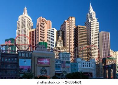 LAs VEGAS, NEVADA/USA - AUGUST 1 ; View of New York New York Hotel in Las Vegas Nevada on August 1, 2011