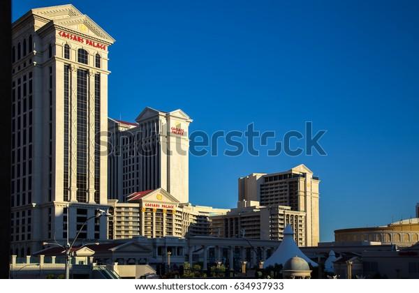 LAS VEGAS, NEVADA/USA - AUGUST 1 : View  of Caesars Palace at sunrise in Las Vegas on August 1, 2011
