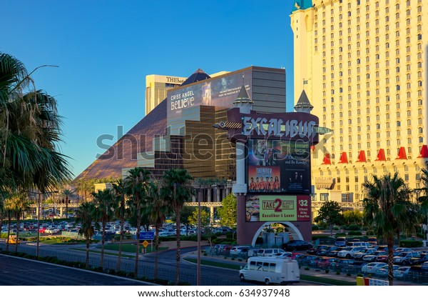 LAs VEGAS, NEVADA/USA - AUGUST 1 : View of the Excalibur Hotel in Las Vegas Nevada on August 1, 2011