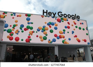 Las Vegas, Nevada/USA - January 7th 2019: Hey Google pavillion at CES 2019