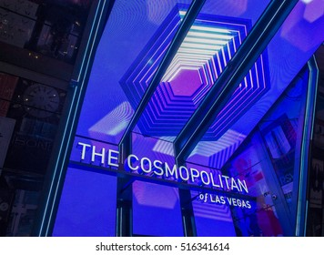 LAS VEGAS - NOV 08 : The Cosmopolitan hotel casino interior in Las Vegas on November 08 2016. The Cosmopolitan opened in 2010 and it has 2,995 rooms and 75,000 sq ft casino.