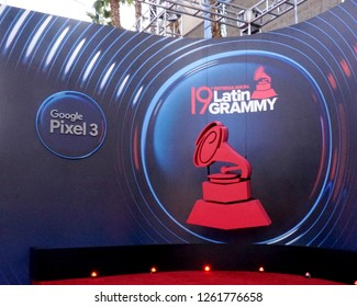 LAS VEGAS - NOV 15:  General Atmosphere at the 19th Annual Latin GRAMMY Awards - Arrivals at the MGM Garden Arena on November 15, 2018 in Las Vegas, NV