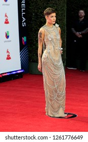 LAS VEGAS - NOV 15:  Halsey at the 19th Annual Latin GRAMMY Awards - Arrivals at the MGM Garden Arena on November 15, 2018 in Las Vegas, NV