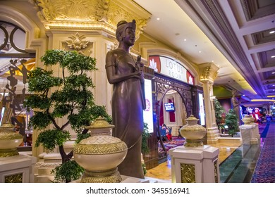 LAS VEGAS - NOV 17 : The interior of Mandalay Bay resort on November 17, 2015 in Las Vegas. The resort, which opened in 1999, has 3,309 hotel rooms, 24 elevators and a casino of 135,000 sq ft