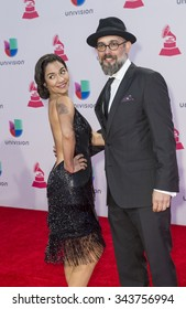 LAS VEGAS , NOV 19 : Kacho Lopez (R) and Tristana Robles attends the 16th Annual Latin GRAMMY Awards on November 19 2015 at the MGM Grand Arena in Las Vegas, Nevada