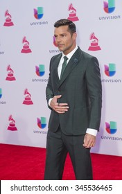 LAS VEGAS , NOV 19 : Singer Ricky Martin attends the 16th Annual Latin GRAMMY Awards on November 19 2015 at the MGM Grand Arena in Las Vegas, Nevada
