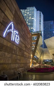 LAS VEGAS - NOV 24 : The Aria hotel in Las Vegas on November 24 2016. The Aria is a luxury resort and casino opened on 2009 and is the world's largest hotel to receive LEED Gold certification