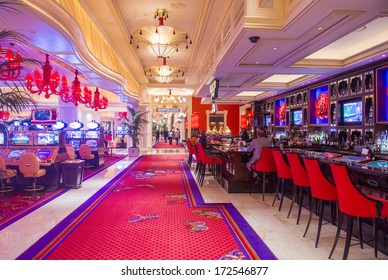 LAS VEGAS -NOV 24 : The the interior of Wynn Hotel and casino on November 24 2013 in Las Vegas. The hotel has 2,716 rooms and opened in 2005.