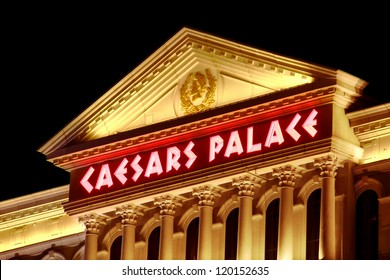 LAS VEGAS - NOVEMBER 30: Caesars Palace hotel and casino on November 30, 2011 in Las Vegas.  Caesars Palace opened in the 1960's and has a Roman Empire theme.