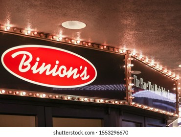 "Las Vegas, NV 11/1/2019 — Entrance to the Binion's Hotel. The property reopened Feb. 2019 with the famous Apache Hotel that ""made poker famous."" It was also the first hotel in NV to have an elevator."