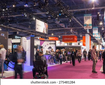LAS VEGAS, NV - April 15: Oracle at NAB Show 2015, an annual trade show by the National Association of Broadcasters.1726 exhibitors on 2000000 sq feet space of Las Vegas Convention Center, April 13-16