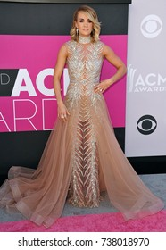 LAS VEGAS, NV - APRIL 2, 2017: Carrie Underwood at the Academy of Country Music Awards 2017 at the T-Mobile Arena, Las Vegas