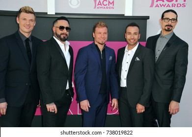 LAS VEGAS, NV - APRIL 2, 2017: Backstreet Boys at the Academy of Country Music Awards 2017 at the T-Mobile Arena, Las Vegas