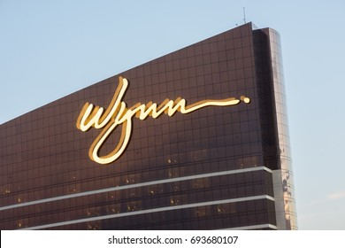 Las Vegas, NV: August 3, 2017: Wynn Las Vegas resort.  Wynn Las Vegas opened in April 28, 2005.