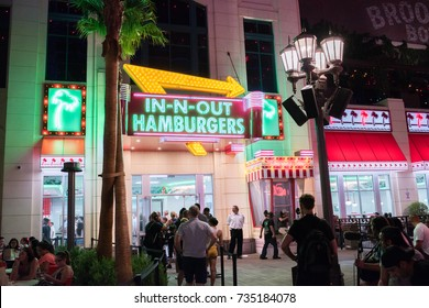 Las Vegas, NV: August 3, 2017: In-N-Out Burger in Las Vegas, Nevada. In-N-Out Burger was founded in October 22, 1948.