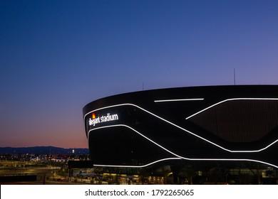 Las Vegas, NV - August 6 2020: Las Vegas Raiders Allegiant Stadium at Sunset