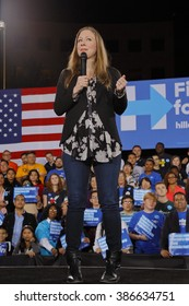 LAS VEGAS, NV - FEBRUARY 19: Chelsea Clinton speaks during a 'Get Out The Caucus' event at the Clark County Gov. Center on February 19, 2016 in Las Vegas, NV for Pres. Candidate Hillary Clinton.
