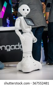 Las Vegas, NV - Jan. 8, 2016: A state-of-the-art robot steals the shows at the 2016 Consumer Electronics Show (CES) in Las Vegas.