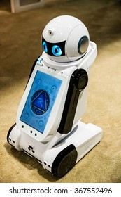 Las Vegas, NV - Jan. 8, 2016: Reeman Robotics displays it's next generation robot at the Consumer Electronics Show (CES).