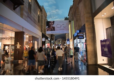 Las Vegas, NV: July 13, 2019:  Miracle Mile Shops at the Planet Hollywood Resort.  Miracle Mile Shops has more than 170 stores.