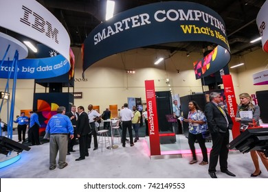 LAS VEGAS, NV - JUNE 10, 2013: Booth of Smart Computing at exhibition in frame of IBM Edge 2013 conference on June 10, 2013 in Las Vegas, NV