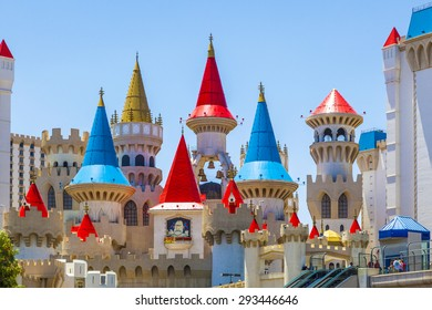 LAS VEGAS, NV - JUNE 15, 2012: Excalibur Hotel and Casino in Las Vegas, Nevada. Its owner - MGM Resorts reported strong net revenue gain of 43 percent to $2.23 billion in third quarter 2011