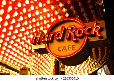 LAS VEGAS, NV - JUNE 23, 2014: Hard Rock Cafe on the famous Las Vegas Blvd Strip Nevada.