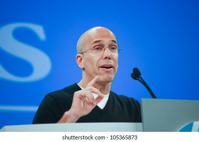 LAS VEGAS, NV - JUNE 5, 2012: DreamWorks Animation chief executive officer Jeffrey Katzenberg delivers an address to HP Discover 2012 conference on June 5, 2012 in Las Vegas, NV