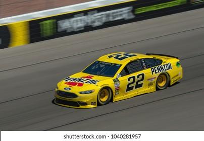 LAS VEGAS, NV - MAR 04:  Joey Logano at the NASCAR Monster Energy Cup Series Pennzoil 400 race at Las Vegas Motorspeedway in Las Vegas on March 04, 2018