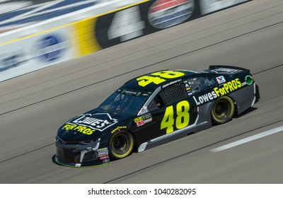LAS VEGAS, NV - MAR 04:  Jimmie Johnson at the NASCAR Monster Energy Cup Series Pennzoil 400 race at Las Vegas Motorspeedway in Las Vegas on March 04, 2018