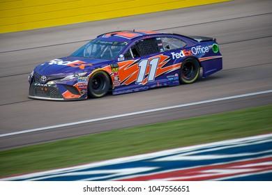 LAS VEGAS, NV - MAR 04:  Denny Hamlin at the NASCAR Monster Energy Cup Series Pennzoil 400 race at Las Vegas Motorspeedway in Las Vegas on March 04, 2018