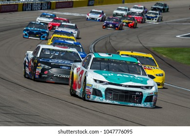 LAS VEGAS, NV - MAR 04:  Austin Dillon (3) leading the field at the NASCAR Monster Energy Cup Series Pennzoil 400 race at Las Vegas Motorspeedway in Las Vegas on March 04, 2018