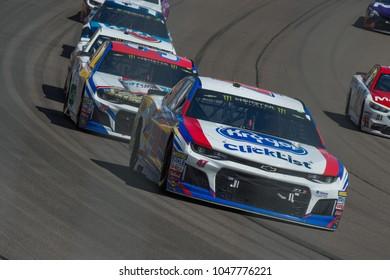 LAS VEGAS, NV - MAR 04:  AJ Allmendinger (47) racing at the NASCAR Monster Energy Cup Series Pennzoil 400 race at Las Vegas Motorspeedway in Las Vegas on March 04, 2018