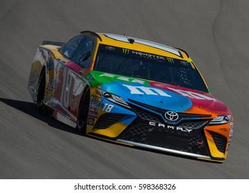 LAS VEGAS, NV - MAR 10: Kyle Busch at the NASCAR Monster Energy Cup Series Kobalt 400 race at Las Vegas Motorspeedway in Las Vegas on March 10th, 2017