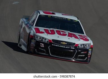 LAS VEGAS, NV - MAR 10: Austin Dillon at the NASCAR Monster Energy Cup Series Kobalt 400 race at Las Vegas Motorspeedway in Las Vegas on March 10th, 2017