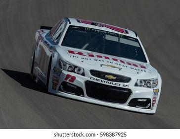 LAS VEGAS, NV - MAR 10: Cole Whitt at the NASCAR Monster Energy Cup Series Kobalt 400 race at Las Vegas Motorspeedway in Las Vegas on March 10th, 2017